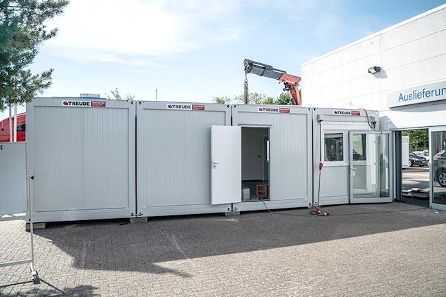 Container beim Autohaus Schmetzer in Braunschweig