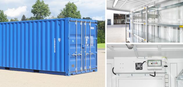 Lagercontainer - individuell auf Ihre Bedürfnisse angepasst.