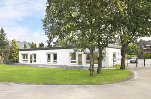 Modulbau in Hannover - ein fertiges Gebäude